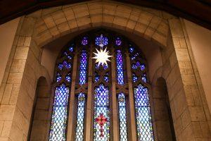 Ebenezer Lutheran Church stained glass window